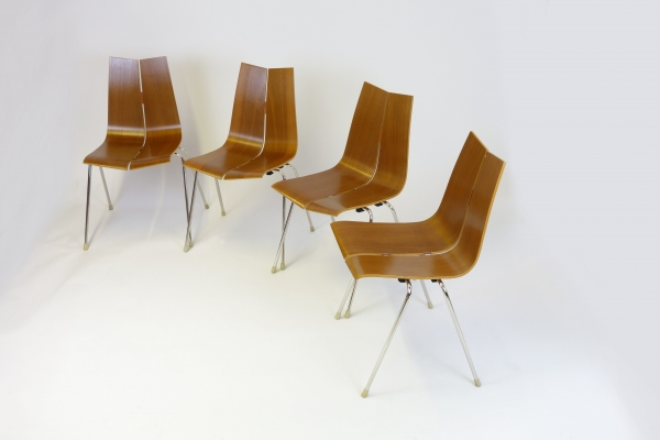 4 GA stacking chairs by Bellmann SOLD