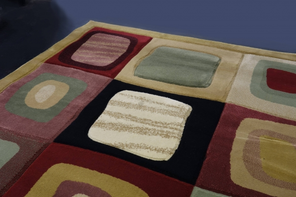 Carpet with relief structure